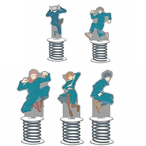 Saicowordist Juego de figuras acrílicas de pie Jujutsu Kaisen, de Satoru Itadori Fushiguro Kugisaki Inumaki Stand en miniatura
