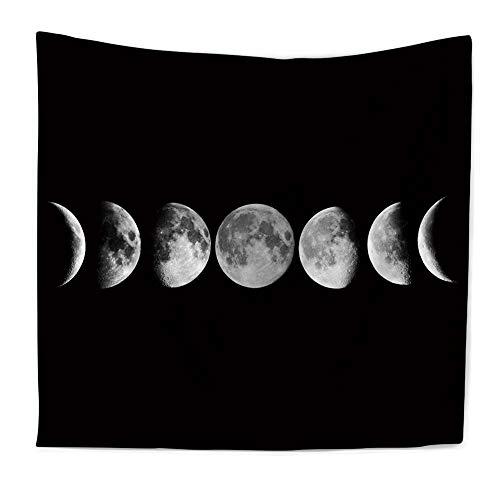 N / A Eclipse Lunar Cambio Tapiz Galaxia Impresa Arte 3D Alfombra Paisaje Tapiz decoración del hogar Colgante de Pared decoración Tela de Fondo A1 130x150cm