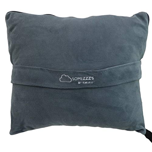 KULULU Travel Blanket and Pillow Set w/ Pouch -...