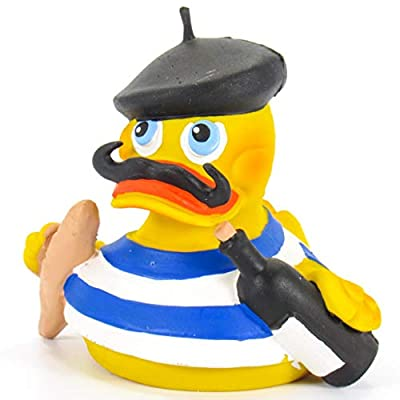 French Parisian Rubber Duck Bath Toy | All Natural, Organic, Eco Friendly, Squeaker | Imported from Barcelona, Spain from Lanco