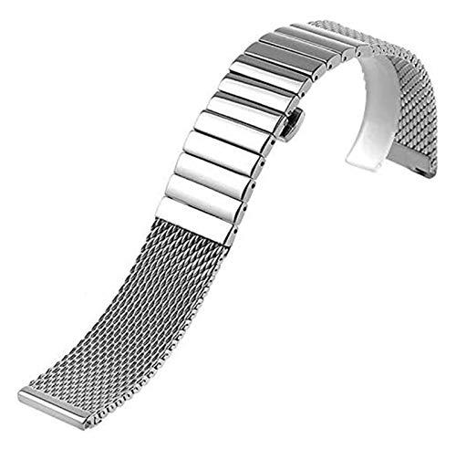 Beapet Watch Strap 18/20/22/24 Mm Wristband Stainless Steel Strap Polished Silver Shark Mesh Band For Men Women Wristwatch Bracelet (Size : 22mm)