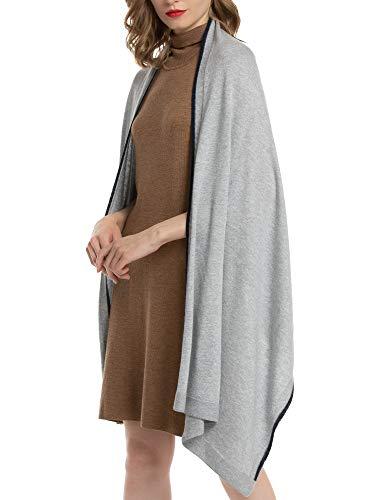 Woolen Bloom Donna Sciarpa Grande Cashmere Cashmere Lunga Leggera per Morbido Caldo Elegante Tops