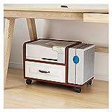 Soporte de Impresora Soporte de impresora de pie, soporte de impresora para organizador espacial como estante de almacenamiento, con 4 ruedas, elevador de impresora (cuatro colores) Rack de Almacenami