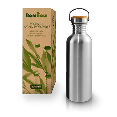 Borraccia in Acciaio Inossidabile 1 L, BPA free - Bambaw