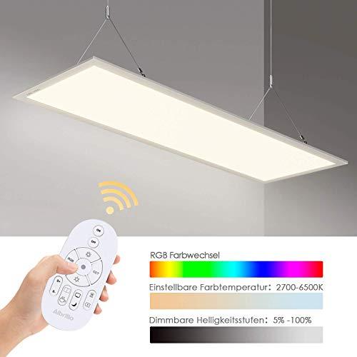 Albrillo LED Panel 120x30cm - Dimmbar und RGB Farbwechsel