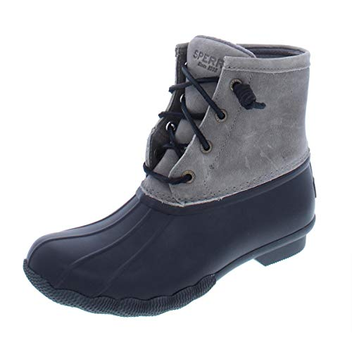 Sperry Womens Saltwater Boots, Black/Grey, 7.5