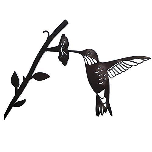 Décoration d'Art d'oiseau en métal de colibri pour votre cour ou votre art et votre cour en métal d'arbre Décoration Animale en métal de Branche