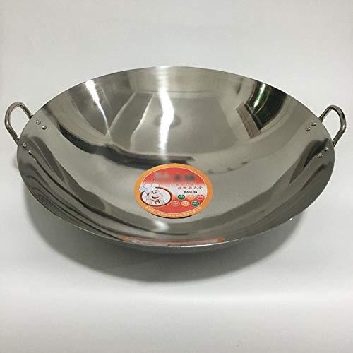 Servizio Wok Con Coperchio In Vetro Acciaio Inossidabile Con Rivestimento Antiaderente In Teflon Select,50cm