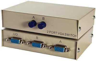 2 Ports VGA Switch Selector Box (2 In 1 Out, 2 PC to 1 Monitor)