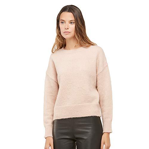 Maglione Girocollo Donna in Mohair Blend - Color Rosa Taglia L