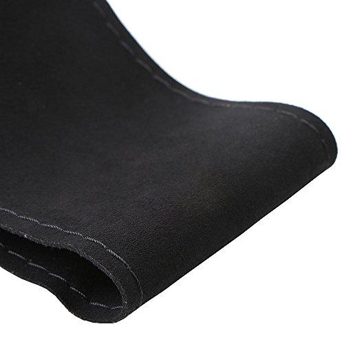 Einzigartige neue Wildleder Material Auto Hand Nähen Lenkradbezug Größe 15 Zoll schwarz