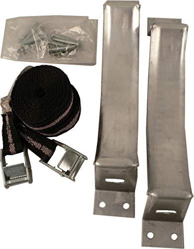 lasiprofi Gasflaschenhalterung Typ Universal, Aluminium, 2er-Set für verschieden Gasflaschengrößen, TüV geprüft
