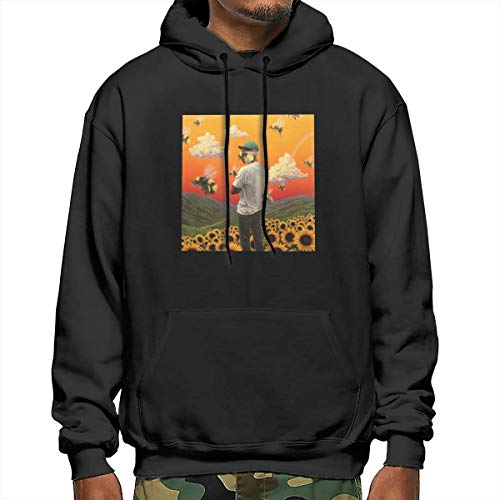 For L And Yu Men's Hoodie Tyler,Flower Boy The Creator Sports Sweatshirt Black S