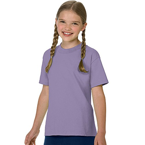 Hanes Authentic Tagless Kid`s Cotton T-Shirt Lavender