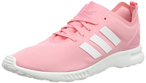 adidas Originals ZX Flux Smooth, Damen Sneakers, Pink (Super Pop F15/Core White/Core Black), EU 38 2/3