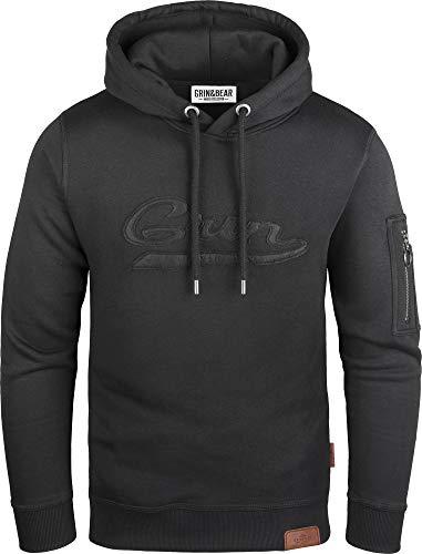 Grin&Bear Kapuzenpullover mit Ärmeltasche schwarz M GEC543