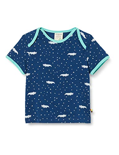 Loud + Proud T- Shirt Allover Print Organic Cotton, Bleu (Ultramarin UL), 74/80 Bébé garçon
