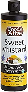Foods Alive Sweet Mustard Salad Dressing, Organic Superfood Dressing Made With Artisan Cold-Pressed Flax Oil - Keto-friend...