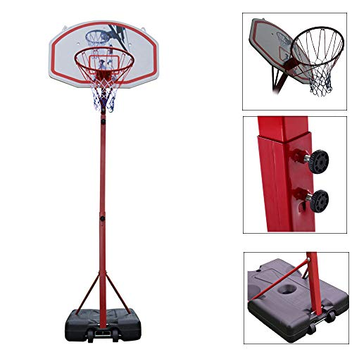Great Deal! Alek...Shop Basketball Adjustable 10 FT Hoop System Backboard Stand Goal w/Net Wheels In...