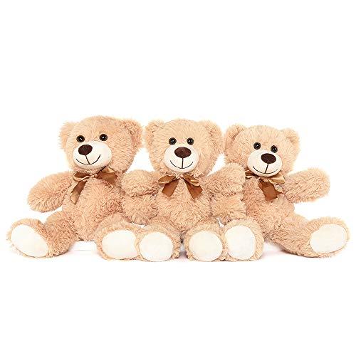 Toys Studio 3-Pack Teddy Bear, 3 Tan Cute Plush Stuffed Animals, 13.8 Inch Teddy Bears for Kids Boys...