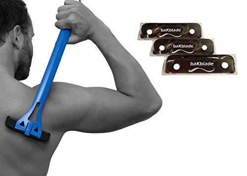 BaKblade 1.0 Back Shaver Rasierklingen-Set, Ersatzklingen für den BaKblade 1.0 Rückenrasierer und Körperrasierer für Männer DryGlide-Klingen für eine Bequeme Haarentfernung, 3er-Set