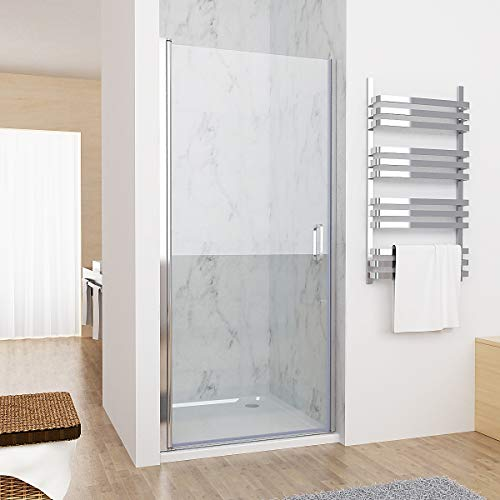 100 x 185 cm Nischentür Duschabtrennung Schwingtür Duschwand Dusche mit 6mm Nano Glas