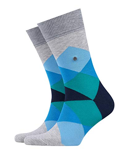 BURLINGTON Herren Socken Clyde - Baumwollmischung, 1 Paar, Grau (Grey/Red 3821), 40-46