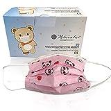 Mascherina Chirurgica Bambini Certificata Tipo II - (Rosa con Disegni) - Dispositivo Medico...