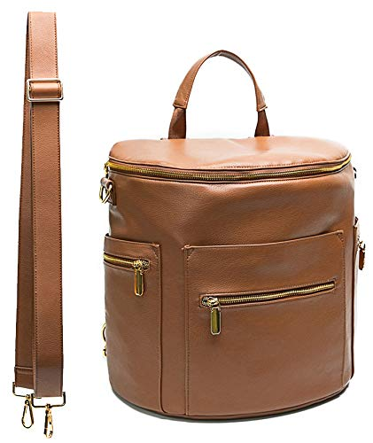 Leather Diaper Bag Backpack by Miss Fong,...