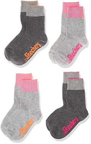 Skechers Socks Mädchen SK41006 Sportsocken, Grau (Fog 49), 23/26