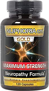 NUPHORIA cm Gold - Neuropathy Support Formula Supplement - 120 Pills - Advanced Relief Support Treatment - Hand Numbness, ...