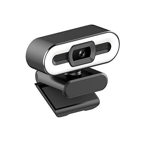 Aubess Cámara web USB para ordenador, cámara web de 1080P con micrófono, 30 Fps Plug and Play con cámara web flexible y giratoria de gran angular para zoom/ordenador portátil, escritorio Mac/PC