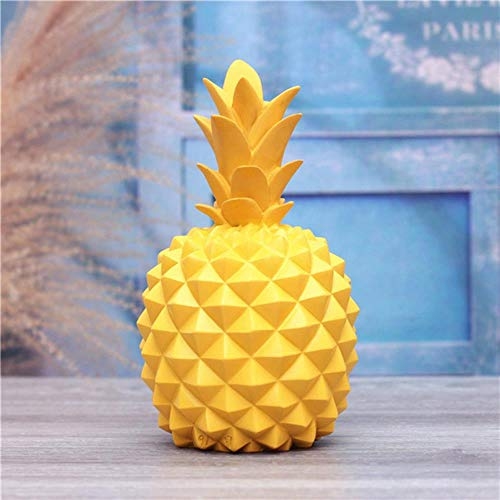 Erfhj Abstract hars ananas geld doos home decoratie cash munt spaarpot creatieve geld doos ananas decoratie, Blauw