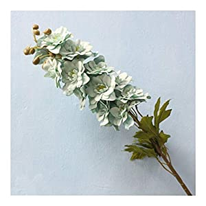 JiaQinHe Remains 80CM Artificial Flower Latex Delphinium Flower Plants Wedding Festival Decoration Flower Hotel Living Room Home Decoration Never