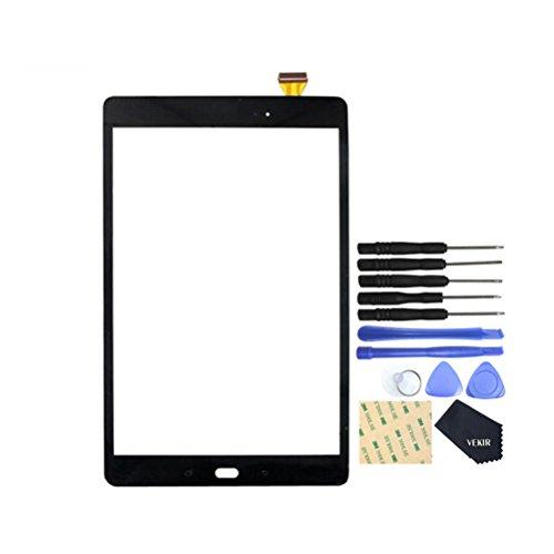 VEKIR Touch Reparatur Glasschirm für Samsung Galaxy Tab A 10.1 (2016) T580 T585 (Schwarz)