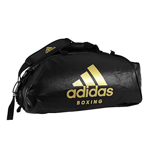 adidas Unisex – Borsa sportiva 2 in 1 per adulti, nero/oro, M