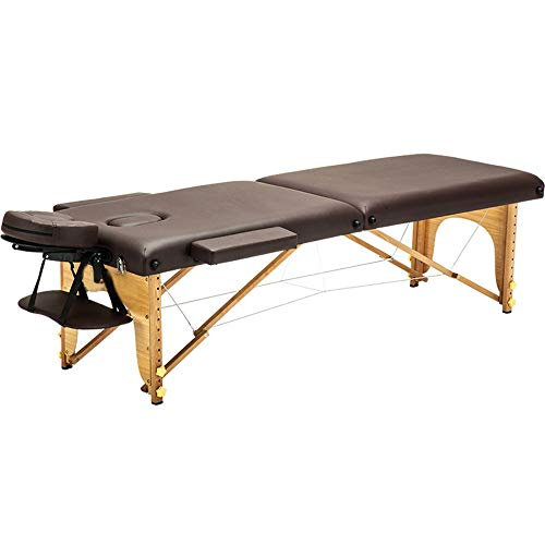 Table Pliante De Massage Portable 2 Section Bois Table de Massage Pliante légère beauté lit...