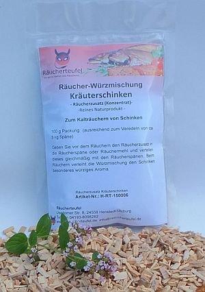 Kalträucherzusatz (Gewürze) für Kräuterschinken 100g, Räucherzusatz