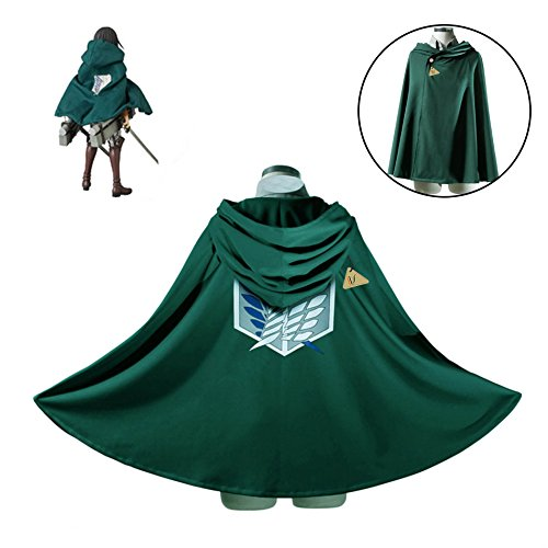 IDS Home Halloween Fashion Cloak Cape Hooded Cosplay Costume Clothes, S Green