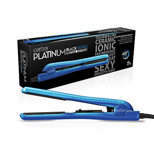 Cortex Metallic 1.25-inch Professional Ceramic Flat Iron Blue
