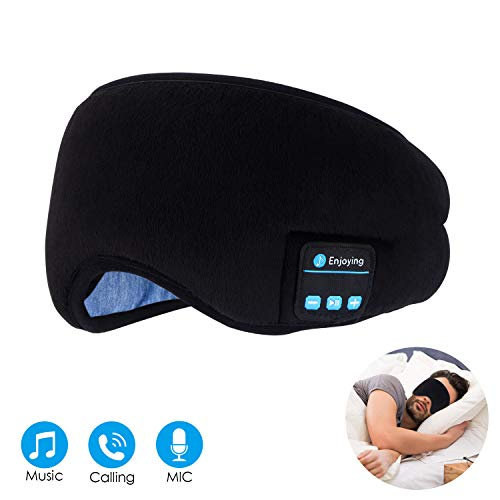 Bluetooth Sleep Eye Mask Wireless Headphones, TOPOINT Upgrade Sleeping Travel Music Eye Cover...