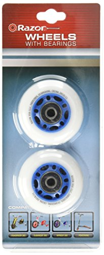 Razor PowerWing RipRider 360 Replacement Rear Wheels - Blue, 64mm