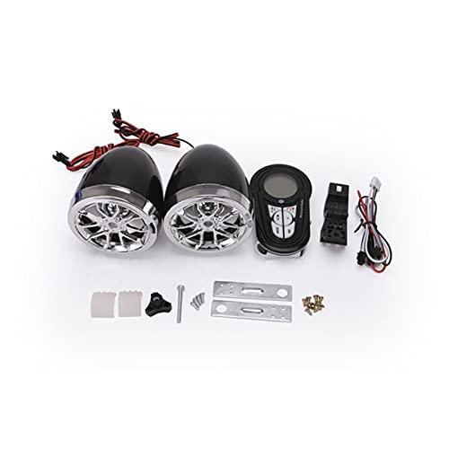 YITAOW Altavoces estéreo a Prueba de Agua Bluetooth Altaviomas de Amplificador estéreo Montando Montando AMP AMP Sistema para Harley ATV UTV RZR, AUX, Radio FM (Color : LD OT148B)