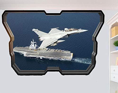 Wandtattoo Aircraft Carrier Rocket Aircraft 3D Window Sticker Wall Room Decoration Decal