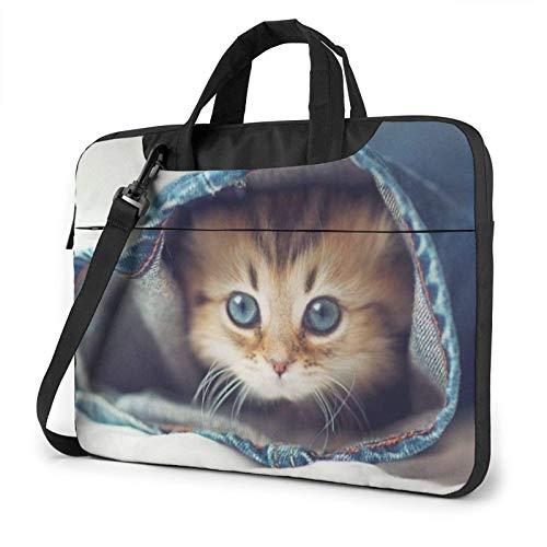 Blue Eye Cutekitten Laptop Bag Messenger Bag Briefcase Satchel Shoulder Crossbody Sling Working Bag