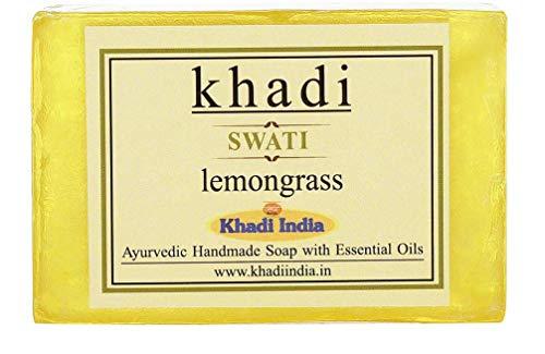 Glamorous Hub Khadi Swati Lemongrass Soap 75 Gms (L'imballaggio può variare)