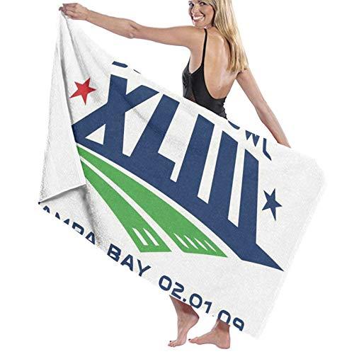 Super Bowl NFL Toalla de baño de microfibra manta de playa para hombres y mujeres, secado rápido, decorativa, playa, baño, viajes, gimnasio, spa, toalla o manta de 81 x 132 cm