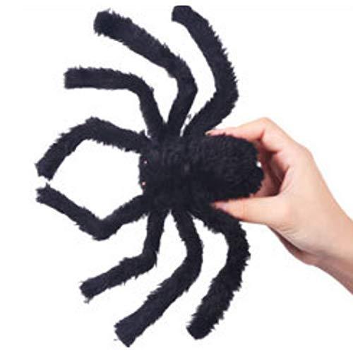 Heatigo Halloween-Requisiten, Schwarzer Plüsch Streich Spooky Spider, Realistische Scary Toy Für Kinder Und Freund Für Urlaub Halloween Und Party Decor 30cm Black Spider 20g