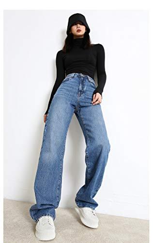 ShSnnwrl Guapo Jeans Vaqueros Pantalon Pantalones De Mezclilla Casuales para Mujer Pantalones Vaqueros De...