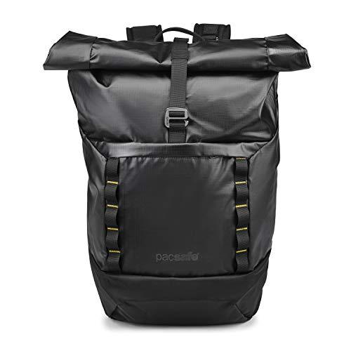 Pacsafe Dry Lite 30 L Rucksack, große wasserfester Wanderrucksack, Anti-Diebstahl Daypack, wasserresistente Tasche mit Diebstahlschutz, 30 Liter, Schwarz/Black
